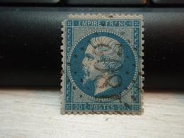 Timbre Napoléon III 20 C - EMPIRE FRANC  N° 22 Oblitéré.  1802 Manque Haut Gauche - 1862 Napoleon III