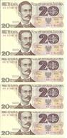 POLOGNE 20 ZLOTYCH 1982 AUNC P 149 ( 5 Billets ) - Pologne