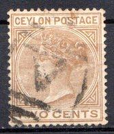 CEYLAN - (Colonie Britannique) - 1872-80 - N° 48 - 2 C. Brun - (Victoria) - Ceylon (...-1947)