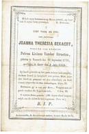 NAZARETH / GAVERE - Joanna BEKAERT (Wwe P. VANDER STRAETEN) - Geboren 1776 En Overleden 1860 - Andachtsbilder