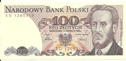 POLOGNE 100 ZLOTYCH 1986 UNC P 143 E - Pologne