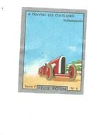 Chromo A Travers Les états-unis USA INDIANAPOLIS COURSE Pub: Felix Potin Ma Collection 1930s TB 52 X 40 Mm RARE 2 Scans - Félix Potin