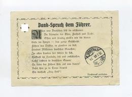 1939 3. Reich S/W Propagandakarte Dankspruch Dem Führer Per Eilboten Bahnpost Marienburg Eydtkuhnen Z 340 - Duitsland