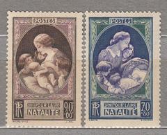 FRANCE 1939 Mother Children Semi Postal Yv 440-441 Mi 455-456 Mint (*) #15827 - Francia