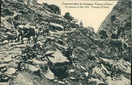 Chine China Yunnan  Caravane Dans La Montagne Carte Postale Missions étrangères De Paris - Chine