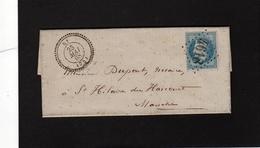 Seine Inférieure  RY ( 74 ) Cad 22  GC 4618  Bureau Supplémentaire  Sur N° 29A Pour Saint Hilaire Du Harcouet ( Manche ) - 1849-1876: Klassieke Periode