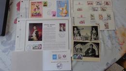 Monaco. Lot De 20 Documents; FDC Avec BF, Souvenirs Philatéliques, Autres - Lots & Serien
