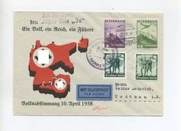 1938 Österreichanschluss 3.Reich Farbiger Luftpost Schmuckbrief Volksabstimmung Mit Dt. öst. Mischfrankatur - Duitsland
