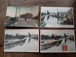 Lot De 4 CPA D'AMIENS  - 3 Colorisées - Pont Beauvillé La Somme Chemin De Halage - Vue Sur La Somme Au Pont Beauvillé - Amiens