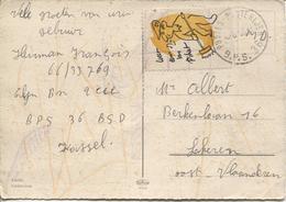 REF677/ CP Kassel En MD Label - Vignette C.Postes-Posterijen 1966 BPS 36 > Lokeren - Posta Militare