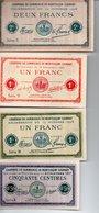 4 Billets  : CHAMBRE DE COMMERCE DE MONTLUCON - GANNAT - 1871-1952 Gedurende De XXste In Omloop