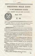 1850 REGNO DELLE DUE SICILIE DECRETO BARANO D'ISCHIA ISCHIA - Décrets & Lois