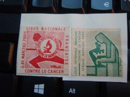 Vignettes Ligue Nationale Contre Le Cancer. 6, Avenue Marceau PARIS - Otros
