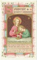 Image Religieuse. Communion. M.L. Van De Walle, Tournai 1892. Holy Card. - Images Religieuses