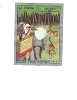 Chasse Au Tigre INDE INDIA Eléphant Pub: Felix Potin Ma Collection 1930s TB 52 X 40 Mm RARE 2 Scans - Félix Potin