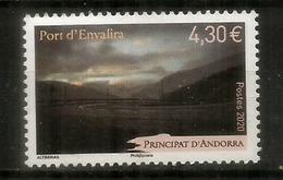 2020  Port D'Envalira 2409 M, Le Plus Haut Col Routier Des Pyrénées,route Accès D'Andorre. Timbre Neuf ** Haute Faciale, - Französisch Andorra