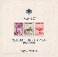 Bloc 3 Timbres -albanie- 25 Vjetor I Independences Shqiptare - Albania
