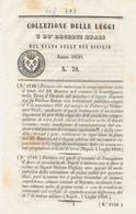 1850 REGNO DELLE DUE SICILIE DECRETO GIURDIGNANO OTRANTO + POMIGLIANO D'ARCO - Décrets & Lois