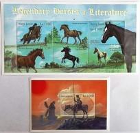Sierra Leone 2001**Mi.4114-19 + Bl.532   Horses , MNH [16;89] - Paarden