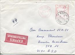 REF678/ Lettre En Exprès C.méc.Kortrijk 170 Frs + C.Kortrijk 1993 > SPB 14  Via Post. X1 - Cartas