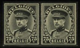 [A2364] België 384 In Paar - Rouwzegel Koning Albert I - Timbre De Deuil - Oplage: 300 Ex. - Ongetand - Cote: € 110,00 - Belgique