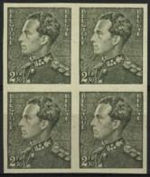 [A2377] België 530 - Koning Leopold III - Type Poortman - Ongetand - Oplage: 200 Ex. - Cote: € 200,00 - SUP - Belgique
