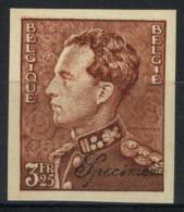 """[A2378] België 531 - Koning Leopold III - Type Poortman - Met """"Specimen"""" - Ongetand - Opl. 200 Ex. - Cote: 50,00 - SUP - Belgique"""