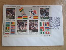 Bolivie FDC World Soccer 1994 - 1994 – Stati Uniti