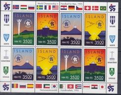 +Iceland 1995. Sport : Handball Championship. Sheetlet, Michel 820-23. MNH(**) - Blocs-feuillets