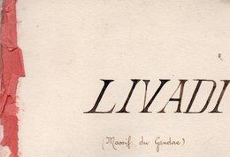 Carnet De Photos De 28 Pages LIVADI ( Massif Du Gandac Bivouac D'hiver Du 5 /9 1916 Au 27/3 1917 ) - Guerre, Militaire