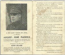 Doodsprentje: PAUWELS August-René ° Stalhille, 1911,+ Dora (Nordhausen), 18 Februari 1945. Echt. Marie DELAERE Verzet - Religion & Esotérisme