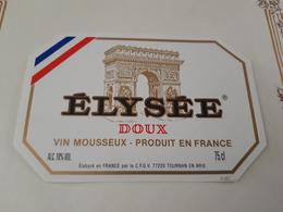 SUPERBE ÉTIQUETTE ÉLYSÉE VIN MOUSSEUX DOUX - Bordeaux