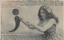 ~   BS  ~   Illustrateur BERGERET   ~   LA   PONCTUATION   ~  Très Jolie Femme ~ - Bergeret