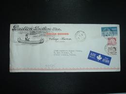LETTRE Pour La FRANCE TP 10 + TP 4 + TP 1 OBL.26 VIII 70 ST EMILE DE QUEBEC +Bastien Brothers INDIAN GOODS Village Huron - 1952-.... Règne D'Elizabeth II