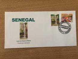 Sénégal 2014 FDC Mi. 2221/2222 Lacs Et Cours D'eau Faune Fauna Birds Oiseaux Vögel Reptiles Tortue Turtle Lac Rose - Senegal (1960-...)