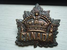 Beau Cap Badge Modèle Général CANADA CANADIAN  WW1 14-18 - 1914-18
