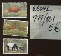 799,800,801 **.protection Des Animaux 1976 - Thaïlande