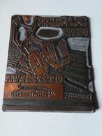 Plaque Cuivrée Gravée Non émaillée Publicité Motoculteurs MOTOSTANDARD Pour Tampon D'impression - Advertising (Porcelain) Signs
