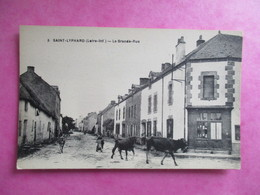 CPA 44 SAINT LYPHARD LA GRANDE RUE VACHES - Saint-Lyphard