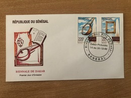 Sénégal 1992 FDC Mi. 1245 / 1248 Biennale De Dakar Art Livres Music Musik Musique Kunst - Senegal (1960-...)