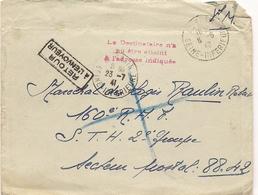1940 *EXODE * COURRIER  POUR MILITAIRE DU 160ème R.A.F. - S.T.H.2ème GROUPE S.P. 88.42  NON JOINT CAUSE EVENEMENTS * - Marcophilie (Lettres)