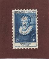 1028 De 1955 - Oblitéré - François De MALHERBE  - Série : Célèbrités Du  XIIème Au XXème  Siècle - 2 Scannes - France