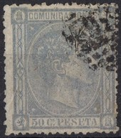 1875 ESPAGNE Obl 159 Dents Courtes - Usati