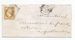 - MORBIHAN - VANNES PC.3484 S/TPND N°13 Superbe - Càd Ype 15 - Port Local - 1861 - 1853-1860 Napoleone III