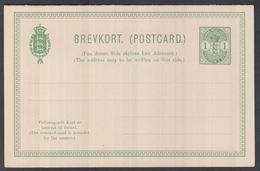 1903. Coat-of-Arms. 1+1 CENTS Greenn DOBBELT BREVKORT. Only 5000 Issued.  (Michel FACIT BKd 7) - JF321539 - Danimarca (Antille)