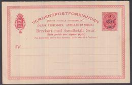 1888. Bi-coloured Type. Surcharge 1+1 Cent 1901 On 3+3 CENTS Red DOBBELT BREVKORT. En... (Michel FACIT BKd 5) - JF321542 - Danimarca (Antille)