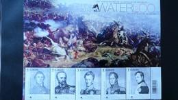 BL 229** Neuf – 2015 – Bicentenaire De La Bataille De Waterloo 5 Timbres - Bloques 1962-....