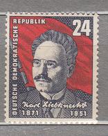 GERMANY DDR 1951 K.Liebknecht Mi 294 Sc 90 MNH Postfrisch Neuf (**) #16014 - Neufs