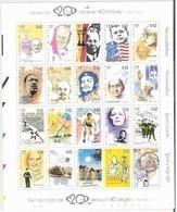 Blok 83** Een Reis Door De 20ste Eeuw In 80 Zegels. Tintin D'Hergé. 2858/77** Gandhi. J.F.Kennedy.Boy-scouts,Beatles - Blocs 1962-....