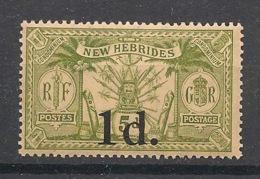 Nouvelles Hébrides - 1920 - N°Yv. 64 - 1d Sur 5p Vert - Neuf Luxe ** / MNH / Postfrisch - French Legend